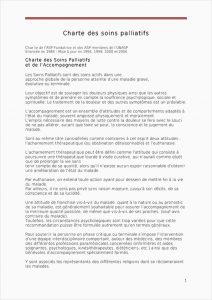 Charte Soins palliatifs
