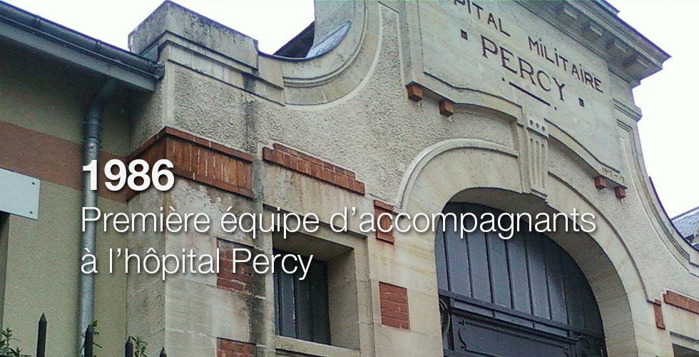 1986 : Première équipe d'accompagnants bénévoles à l'Hôpital Percy