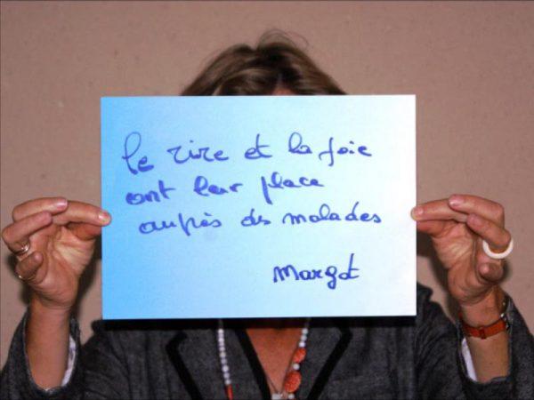 Margot - Le rire et la joie ont leur place auprès des malades