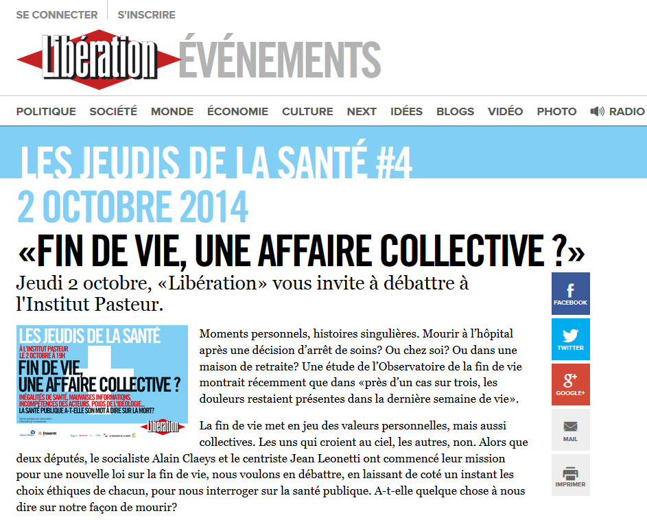 Fin de vie, une affaire collective ?