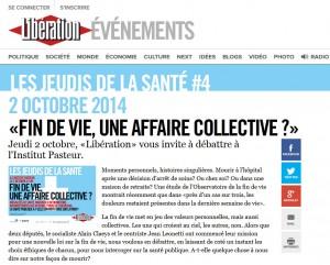 Libération - La fin de vie une affaire collective