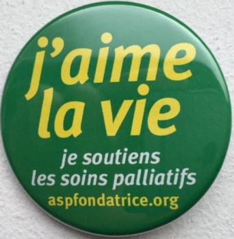 badge j'aime la vie