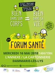 16 Mai : ASP fondatrice au forum santé à Dammarie-lès-Lys